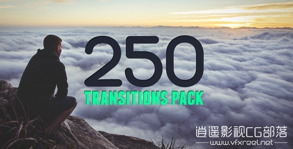 250-Transitions-Pack AE模板:250组扁平化MG视频转场预设文字标题动画 250 Transitions Pack
