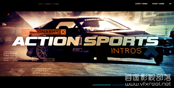 Action-Sports-Intro AE模板:动作电影极限体育运动宣传开场动画揭示 Action Sports Intro