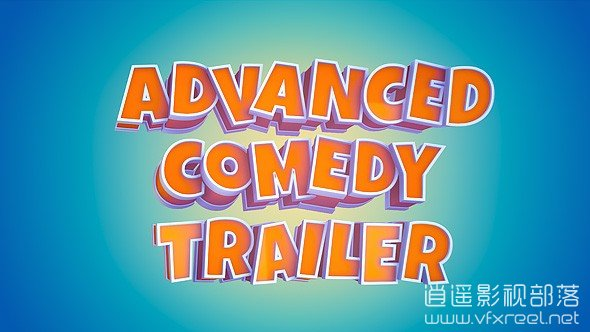 Advanced-Comedy-Trailer AE模板:E3D漂亮3D文字喜剧搞笑电影标题文字展示 Advanced Comedy Trailer