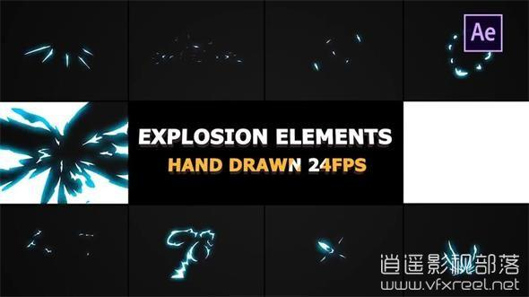 Energy-Explosions-And-Transitions-02 AE模板:卡通游戏特效能量爆炸视频转场动画 Energy Explosions And Transitions