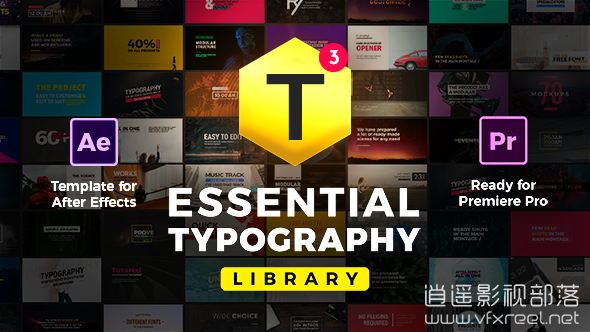 Essential-Titles-and-Lower-Thirds AE模板:时尚公司企业文字标题排版动画设计 Essential Titles and Lower Thirds