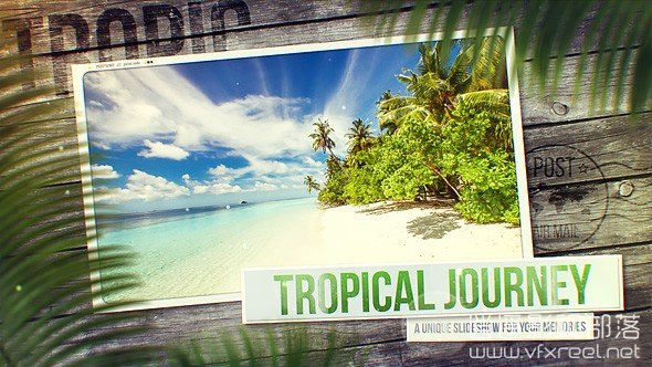 Tropical-Journey-Slideshow AE模板:漂亮夏日旅游度假海边图片动画展示 Tropical Journey Slideshow