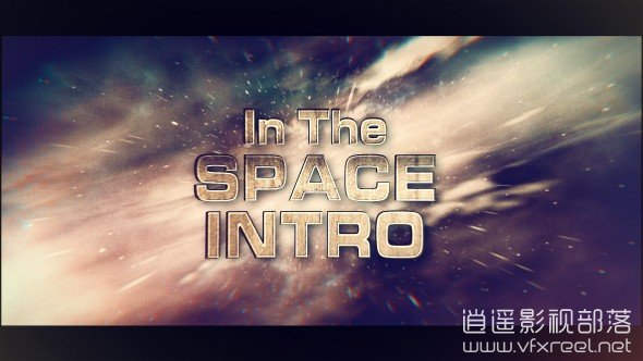 In-The-Space-Intro AE模板:宇宙银河星系3D文字标题电影标志logo动画 In The Space Intro