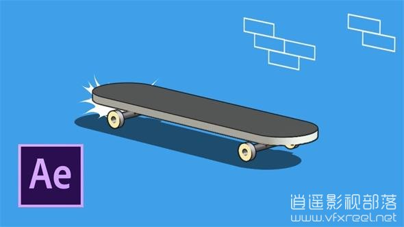 Sketch-and-Toon-in-After-Effects AE教程:素描卡通风格滑板动画制作教程 Sketch Toon in After Effects