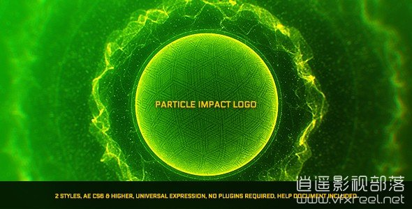 Particle-Impact-Logo AE模板:科技能量粒子光线爆炸标志logo动画展示 Particle Impact Logo