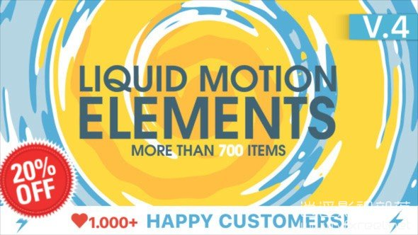 Liquid-Motion-Elements AE模板:卡通手绘效果2D FX液体运动元素合集 Liquid Motion Elements V4