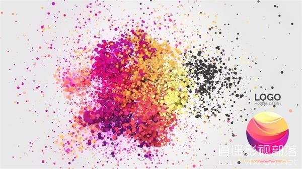 After-Effect-Simple-Particle-Logo-Animation AE教程:多彩粒子变化汇聚标志logo动画教程 Simple Particle Logo Animation