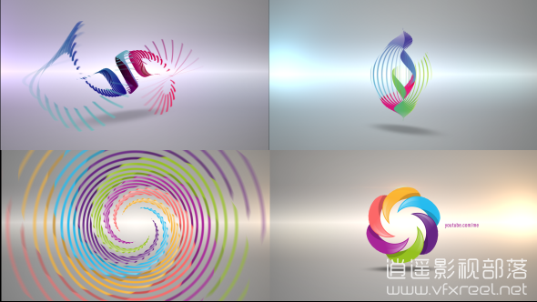 Clean-Radial-Logo-Reveal-Pack AE模板:公司企业简洁干净标志logo动画 Clean Radial Logo Reveal Pack