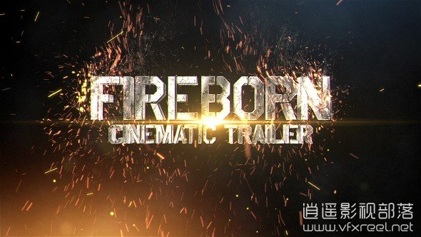 Fireborn-Cinematic-Trailer AE模板:震撼史诗电影三维文字火花动画开场 Fireborn Cinematic Trailer