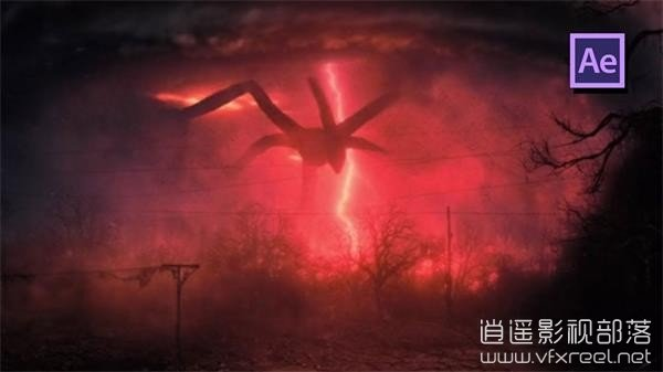 Upside-Down-Stranger-Things-Sky-Effect-in-After-Effects AE教程:恐怖怪物降临合成动画教程 Upside Down Stranger Things Sky Effect