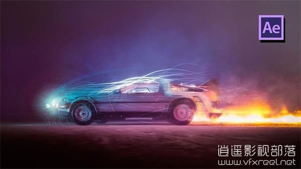 Back-To-The-Future-Effect-in-Adobe-After-Effects-Tutorial AE教程:汽车瞬移穿梭到未来特效教程 Back To The Future Effect