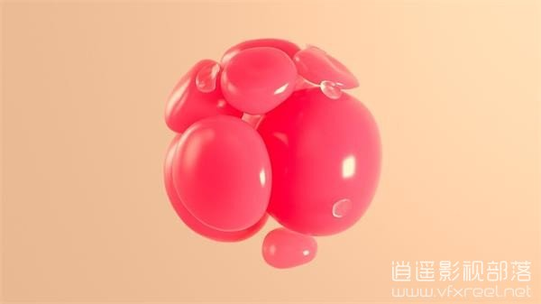 C4D-Abstract-Swirling-Softbody C4D教程:C4D可爱卡通球形柔体旋转教程 Abstract Swirling Softbody