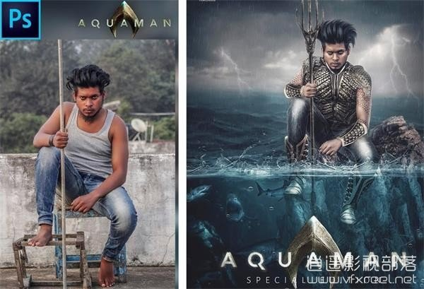 How-To-Create-Aquaman-Poster-Photoshop-Manipulation-Tutorial PS教程:电影《海王》宣传海报模仿制作教程 How To Create Aquaman Poster
