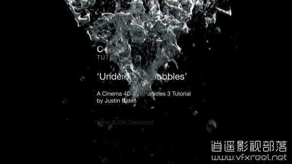 XP教程:水下气泡运动变形特效教程 Helloluxx X-Particles 3 Cinema 4D Tutorial : Underwater Bubbles