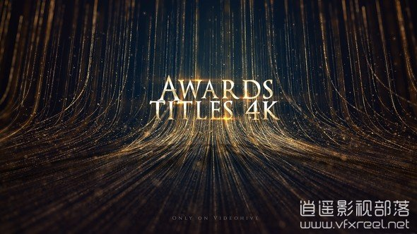 Awards-Titles-4K-and-Awards-Background-Loop-4K AE模板:优雅大气颁奖典礼活动粒子线条背景文字标题动画开场 Awards Titles 4K and Awards Background Loop 4K