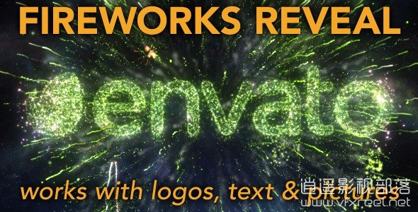 Fireworks-Reveal-for-logos-text-and-pictures AE模板:新年庆祝活动漂亮烟花星星粒子动画开场 Fireworks Reveal