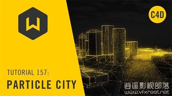 Using-Cinema-4D-to-Create-an-X-Particle-City-Tutorial-157-Particle-City C4D教程:X-Particle制作数字科技粒子城市动画教程 Using Cinema 4D to Create an X-Particle City