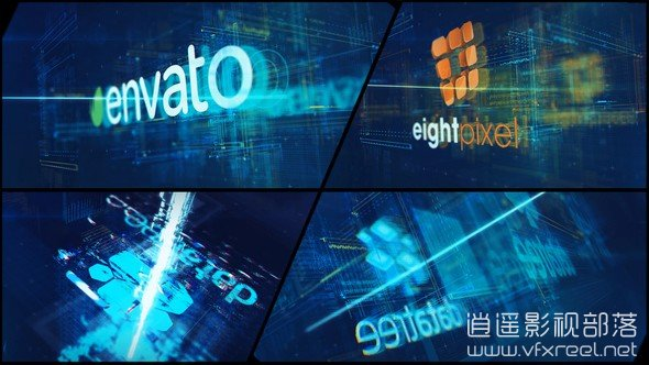 High-Tech-Logo-V09-Electric-Glitch AE模板:科技故障电影文字标志logo动画 High Tech Logo V09 Electric Glitch