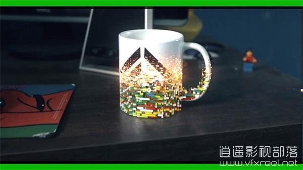 After-Effects-Tutorial-Morphing-any-object-into-lego AE/C4D教程:乐高水杯效果制作渲染合成教程 Morphing any object into lego