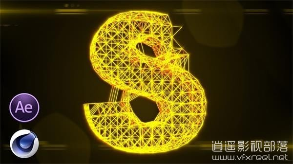 Cool-Lighting-3D-Text-Animation-After-Effects-Cinema-4D-Tutorial AE/C4D制作漂亮发光点线连接3D文字logo动画 Cool Lighting 3D Text Animation
