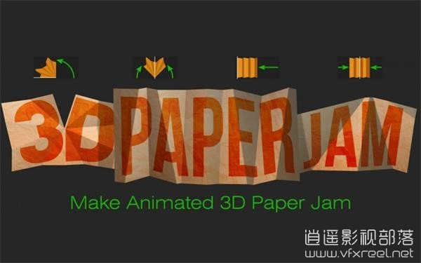 3D-Paper-Jam AE脚本:3D卡片纸张变形折叠MG动画脚本 Aescaripts 3D Paper Jam v1.2 Win/Mac