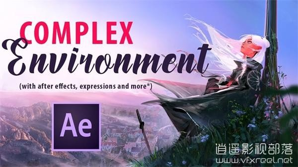 Complex-Environment-Movement-in-After-Effects AE将静态卡通场景制作成随风飘动特效教程 Complex Environment Movement