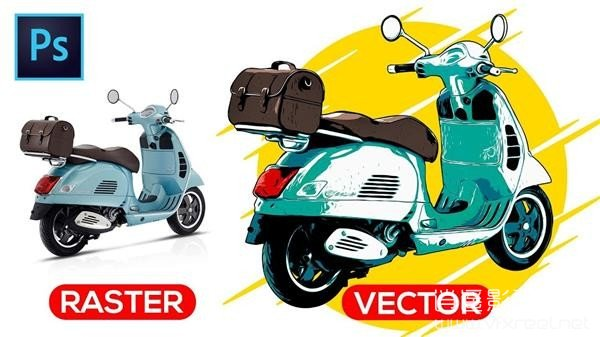 How-to-Vectorize-an-Image-Photo-to-Vector-Photoshop-Tutorial PS静帧图像转矢量油画风格效果教程 How to Vectorize an Image