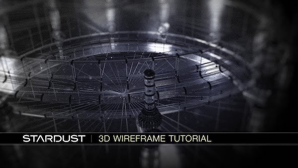 AE Stardust插件3D模型线框效果讲解教程 Stardust 3D Wireframe Tutorial