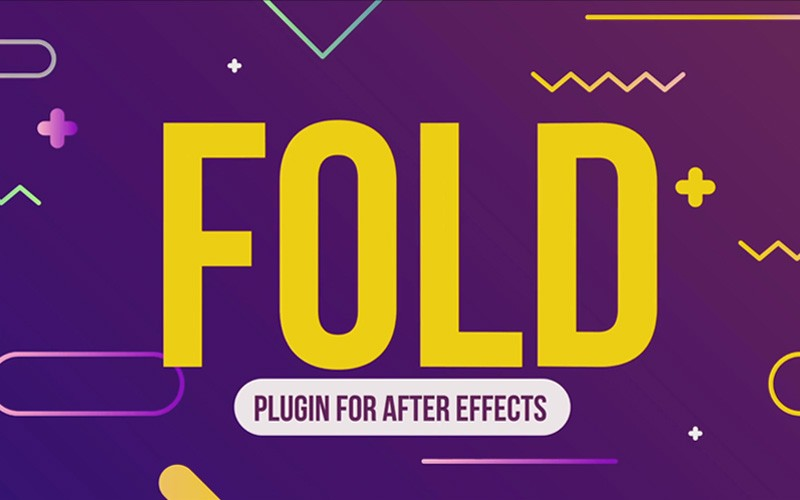 2d图层折叠纸效果AE脚本 AESweets Fold v1.0.1 for After Effects Win/Mac