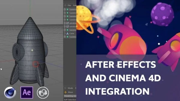 C4D和AE配合制作卡通三维场景教程 After Effects and Cinema 4D Integration